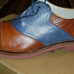 Cole blue and tan saddle oxfords size 12